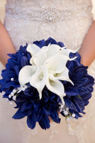 silk wedding-bouquets deep navy weddingdesigns2love via instagram