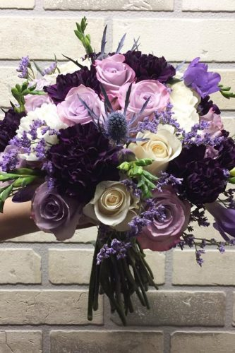 silk wedding bouquets violet c m eventcreations via instagram