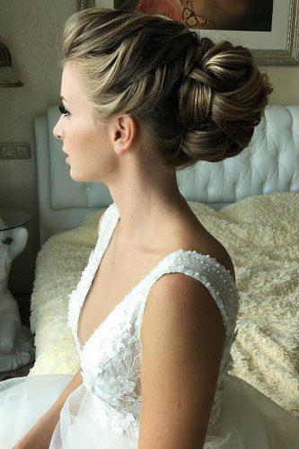 swept back wedding hairstyles exquisite oksana sergeeva stilist