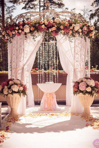 wedding ceremony decorations flower bridal gazebo with blush flowers fleur artdan