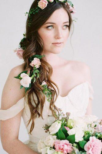 wedding hairstyles with flowers tender for long hair lovesparklepretty
