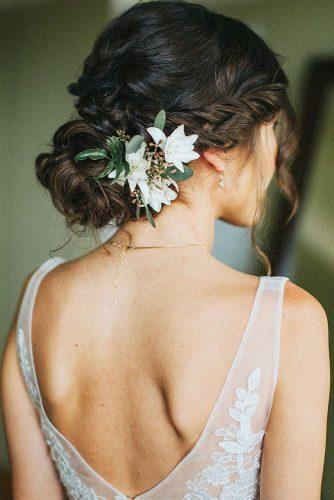 wedding hairstyles with flowers upd wih losen curl blissmauiwed