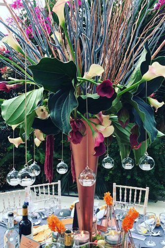 wedding ideas with candles hanging redfloral via instagram