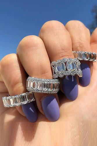 wedding rings for women diamond stackable ring emerald cut