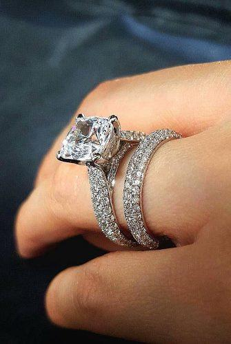 wedding rings for women solitaire white gold pave band