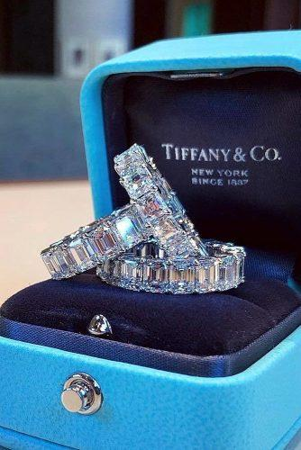 wedding rings for women tiffany diamond stacks