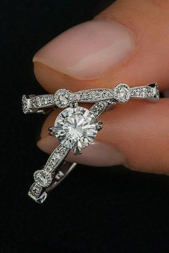wedding rings for women white gold round cut diamond