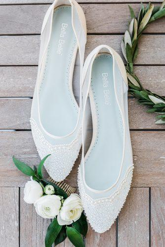 wedding shoes flats white elegant bella belle shoes