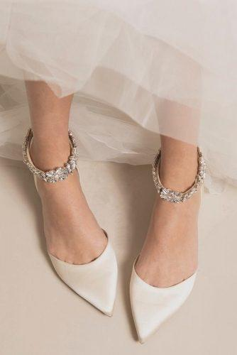 wedding shoes flats with stones badgley mischka