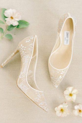 wedding shoes lace ivory with heels liz fogarty