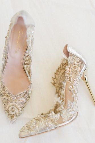wedding shoes lace with heels ivory oscar de larenta