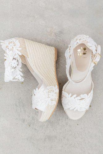 wedding shoes wedge lace ivory comfortable ibiza lace espadril