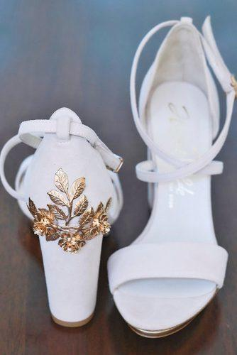 wedding shoes white comfortable with gold floral harriet wilde