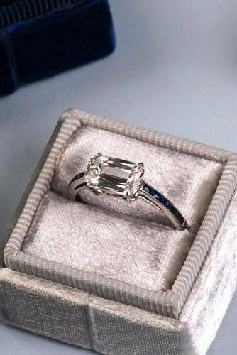 white gold engagement rings emerald cut solitaire simple diamond