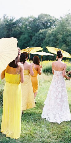 yellow bridesmaid dresses short long spaghetti straps jillian mitchell