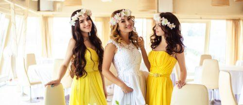 yellow bridesmaids dresses featured