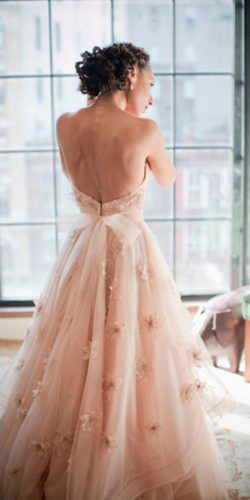 18 peach blush wedding dresses you must see olya vysotskaya photography