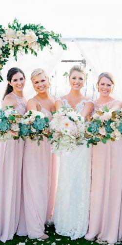 blush bridesmaid dresses halter neckline long lace romantic jkp amber