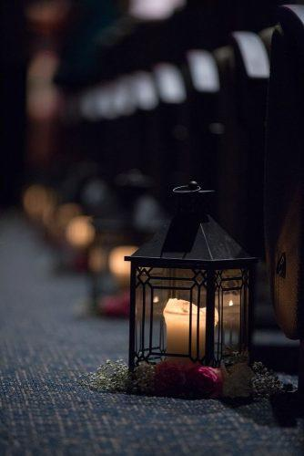 church wedding decorations aisle with candle lanterns and blush flowers magnolia ember