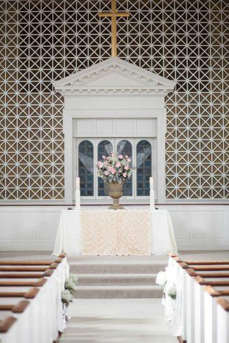 church wedding decorations altar decorated with blush flowers craig hodge photography