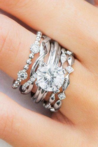 diamond wedding rings twist ring white gold round diamond uneekjewelry
