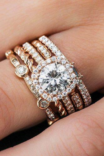 diamond wedding rings twist ring yellow gold round diamond uneekjewelry