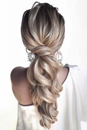 easy wedding hairstyles elegant ponytail on long blonde hair hair_vera