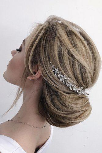 easy wedding hairstyles elegant simple low updo bach silver halo makeupditt