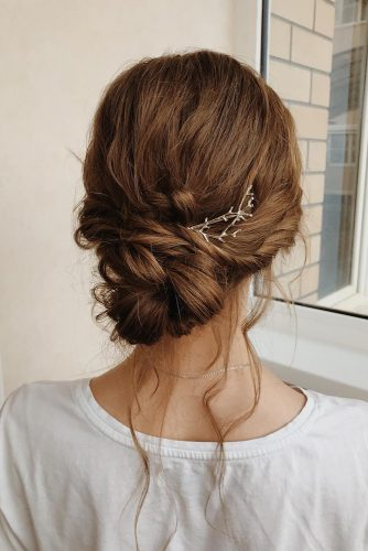 easy wedding hairstyles rustic low on dark hair with swept full_eclipse