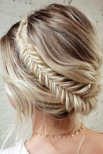 easy wedding hairstyles updo with mermaid braid crown sarahwhair