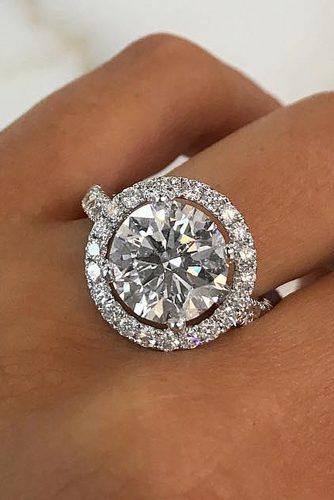engagement ring trends 2019 halo unique round cut diamond