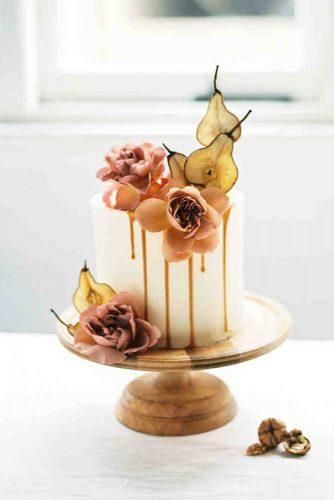 fall wedding cakes small white with orchids and pear katie grant photo