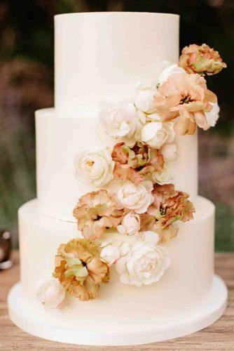 fall wedding cakes white with yellow flowers lauren scotti