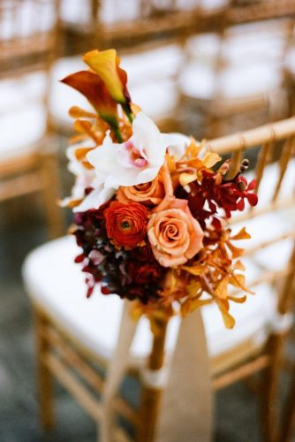 fall wedding decorations chair flower a bryan photo