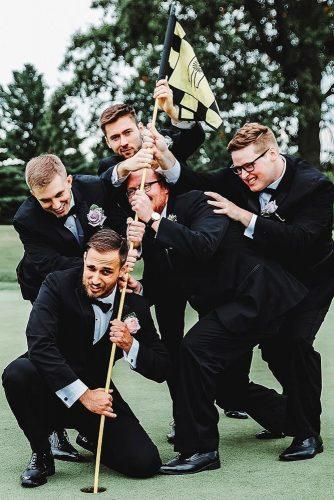 funny wedding pictures comical poses of groom and groomsmen g b y photography