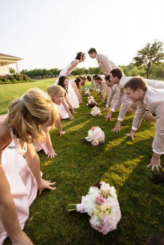 funny wedding pictures sport all plays football two teams popography