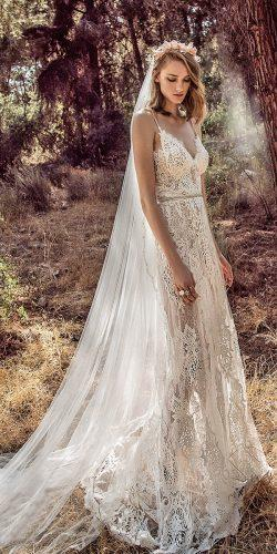 gala galia lahav wedding dresses 2018 bridal sleeveless spaghetti strap sweetheart neckline full embellishment a line open back sweep train