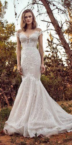 gala galia lahav wedding dresses 2018 mermaid off the sweetheart deep neckline embellishment