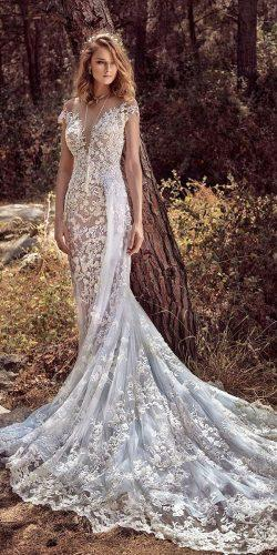 gala galia lahav wedding dresses deep sweetheart neck off the shoulder with train elegance lace 2018