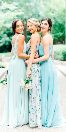 green bridesmaid dresses mint open back long with straps bella bridesmaids