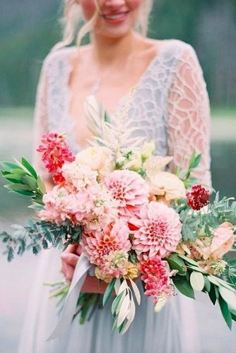 green wedding florals bright pink with greens and dahlias allen tsai via instagram