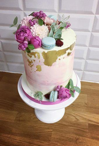 mini wedding cakes cake with flower miacakes.and.sweets
