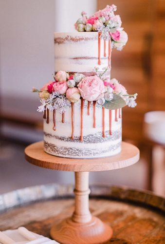 mini wedding cakes peach flower rustic cake fortytwocakes