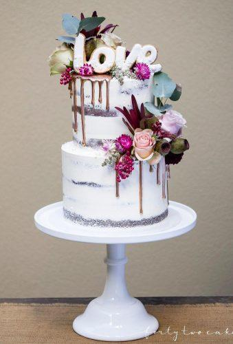 mini wedding cakes rustic cake love topper fortytwocakes