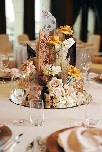 mirror wedding ideas mirror centerpiece on tray mila_cacao via instagram
