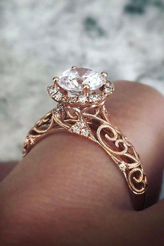 engagement ring trends 2018 vintage gold diamond