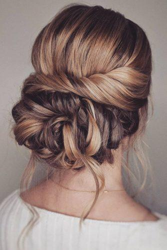 romantic bridal updos wedding hairstyles elegant slightly messy swept low bun bridal_hairstylist