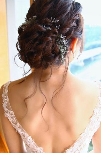 romantic bridal updos wedding hairstyles twisted updo christinechiamakeup