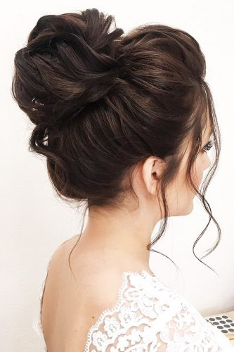 romantic bridal updos wedding romantic high bun hairstyles elenazerr