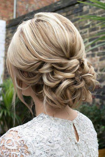 romantic bridal updos wedding textured low updo hair and makeup by steph